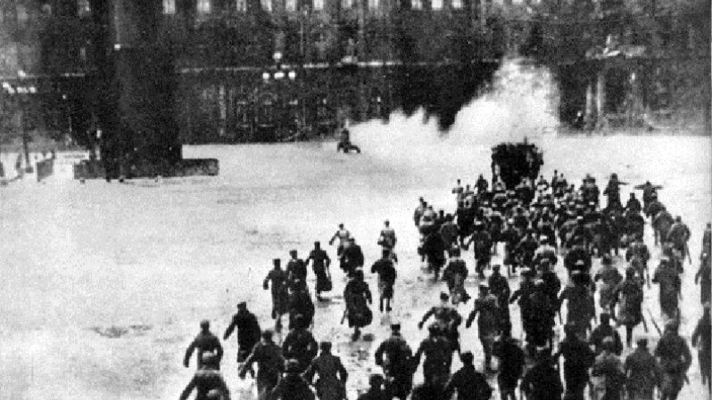 The Red Guards seized the Winter Palace on Nov. 7, 1917 in what was a largely bloodless insurrection.