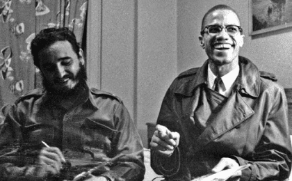 Fidel met Black activist Malcolm X in September 1960 before a U.N. General Assembly meeting. Fidel would cross paths with many other history makers in his more than 50 years of political leadership.