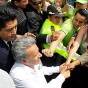 Lenin Moreno, candidate for left-wing coalition Alianza Pais