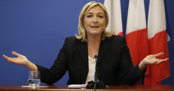 French presidential candidate Marine le Pen.