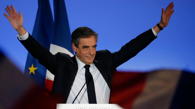 Conservative candidate Francois Fillon