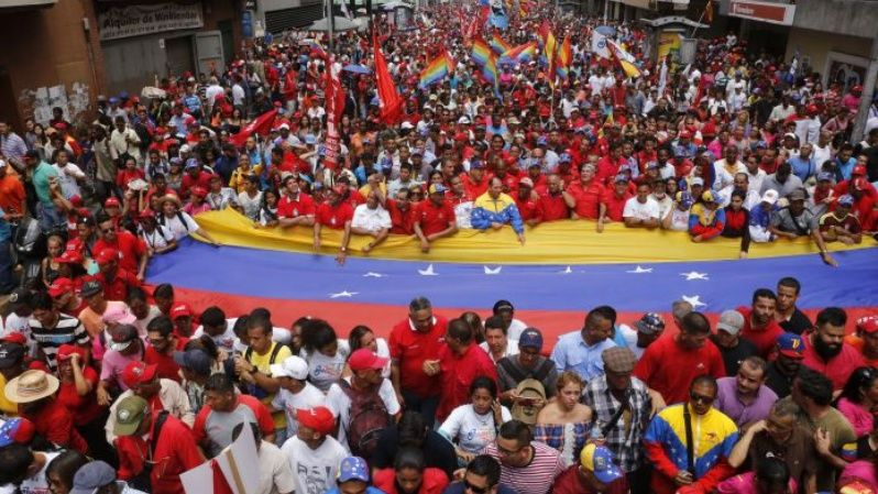 Thousands have come out to support Maduro