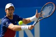 Great Britain's Andy Murray in his first round match in the Aegon Championships, in Queen's Club, London, on June 20, 2017.