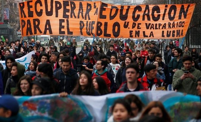 Students mobilize en masse in Chile.