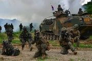 U.S. and South Korean troops conduct military exercises on the Korean peninsula.
