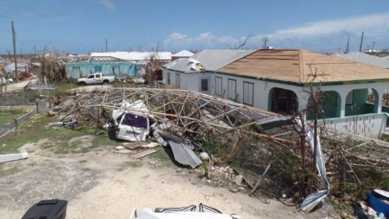 Homes in Codrington, Antigua and Barbuda were completely taken apart by the storms powerful winds.