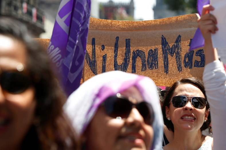 "The slogan, ""Ni Una Mas"" or ""Not One More"" has become the rallying cry against femicides in Latin America."