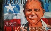 Mural of Puerto Rican independence leader Oscar López Rivera