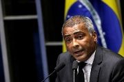 Soccer player-turned-senator Romario during the session debating the impeachment of President Dilma Rousseff in Brazil, 2016.