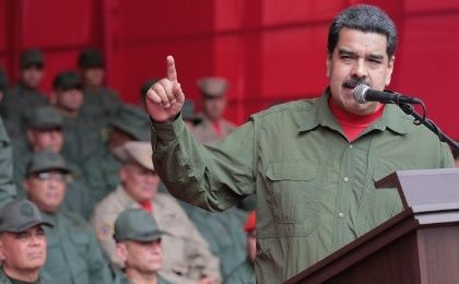 Maduro at the ceremony Thursday.