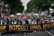 Pro-BDS march in France.