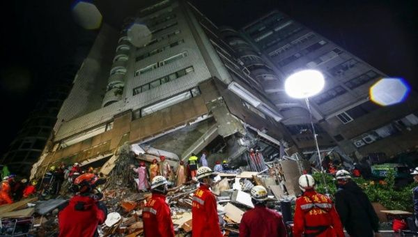 Taiwan Earthquake That Left 10 Dead Captured in Heart-Stopping Video