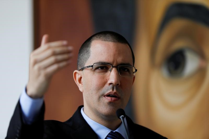 Venezuelan Foreign Minister Jorge Arreaza has lashed out at tour planned by the opposition, describing it as promoting U.S. imperialism.