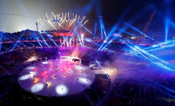 In a burst of light and celebration, the games finally began on February 9.