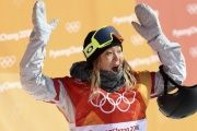 Kim managed to take the top prize in the women's snowboard halfpipe.