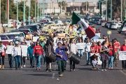 Mexicali Resiste's march against water privatization and the Constellation Brands beer factory in Mexicali in January, 2018.