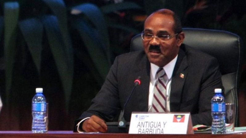 Prime Minister of Antigua and Barbuda and Antigua Barbuda Labour Party candidate, Gaston Browne.