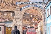 The Huanuni mine produces tin concentrates and is part of the national mining corporation of Bolivia.