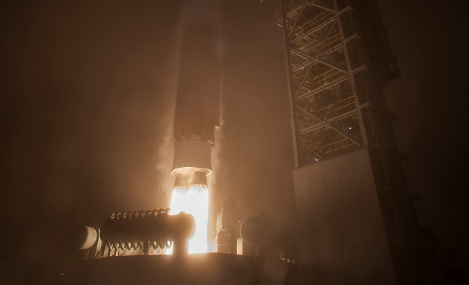 NASA's InSight spacecraft launches on board a United Launch Alliance Atlas-V rocket from Vandenberg Air Force Base, California.