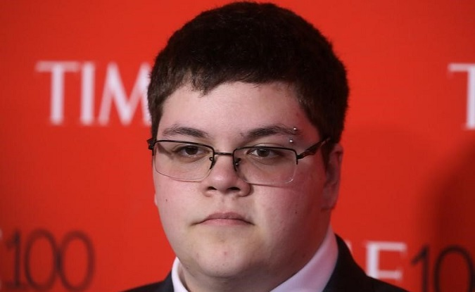 Transgender activist Gavin Grimm arrives for the Time 100 Gala in Manhattan, New York, April 25, 2017.