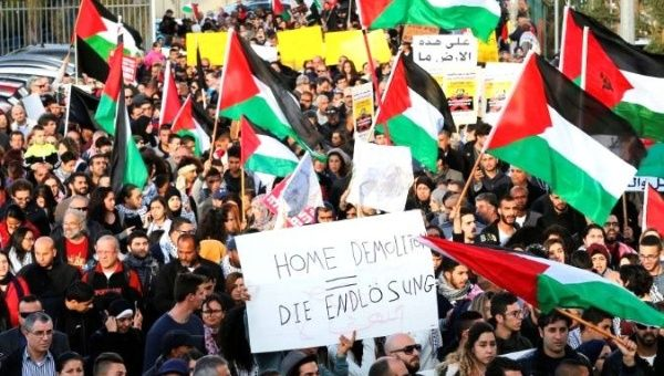 Palestinians are being displaced after ownership of their lands were transferred to a right-wing settlement organization.