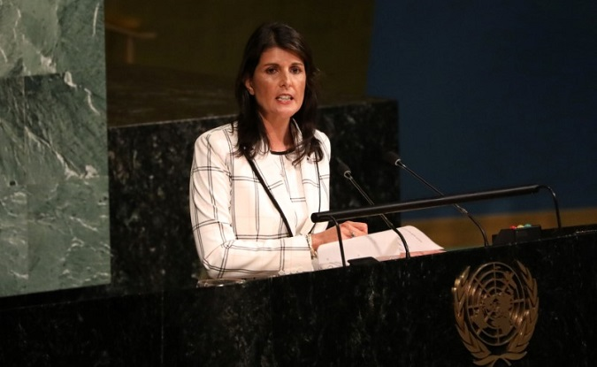 U.S. Ambassador to the UN Nikki Haley called the Human Rights Council