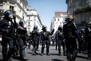 French Gendarmes and CRS riot police at a demonstration in Paris, France, June 28, 2018
