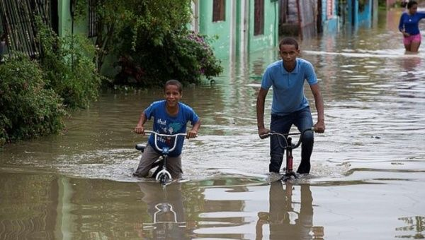 Many parts of the Dominican Republic are suffering from heavy flooding after the first storm of the 2018 hurricane season.