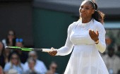 Serena Williams in action at Wimbledon, London, Britain - July 14, 2018