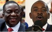 Mnangagwa (L) and Chamisa face off in Zimbabwe