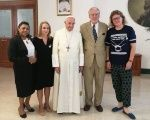 Marinete da Silva (far left) meets with Pope Francis in the Vatican.