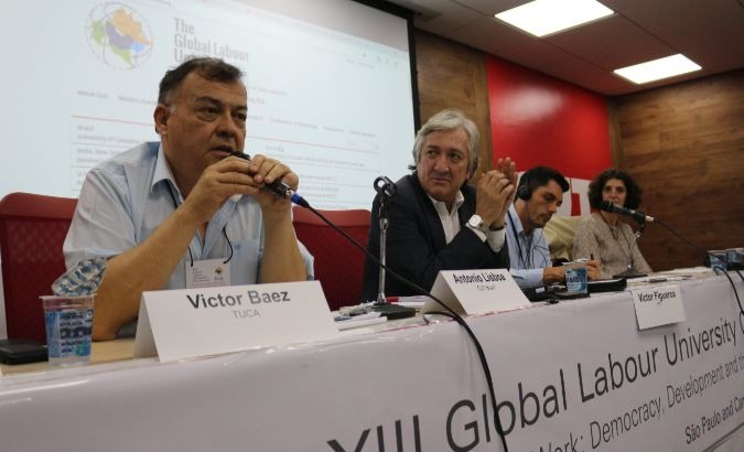 The 13th Global University of Work Conference coincided with an international event supporting Lula.