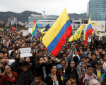 'Colombia Resists:' Thousands March For Peace As Duque Sworn In