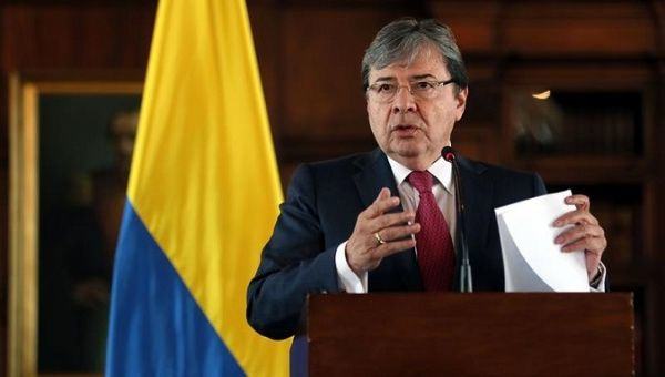 Colombian Foreign Minister Carlos Holmes Trujillo during Friday