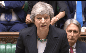 Prime Minister Theresa May speaking about Brexit in the House of Commons Thursday.
