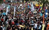 14,000 people marched in Bogota to demand higher budgets for public universities. 30,000 nationwide.