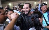 President elect Nayib Bukele of the Great National Alliance (GANA) greets supporters before casting his vote in a presidential election in San Salvador, El Salvador, February 3, 2019
