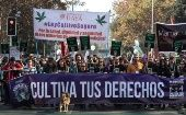 The Cultivate Your Rights March for the legalization of self-grown cannabis in Santiago.
