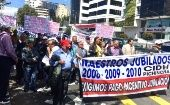 Protestors blame Moreno's neoliberal policies and call for the respect of their constitutional rights.