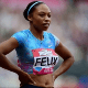 Allyson Felix, a runner sponsored by Nike, during a 2017 London competition.