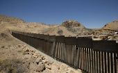 A new bollard-type wall along the border on private property using funds raised via GoFundMe, at Sunland Park, N.M., as seen from Ciudad Juarez Ciudad Juarez, Mexico May 29, 2019