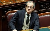 Giovanni Tria at the Lower House of the Parliament in Rome, Italy, December 29, 2018.