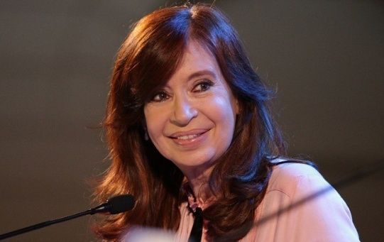 Cristina Fernandez, vice presidential candidate giving a speech on her decision to run for vice president of Argentina. June 11, 2019