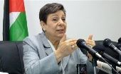 Hanan Ahrawi criticizes U.S. administration's Middle East peace plan it drew up for Israel and Palestine.