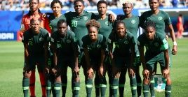 Nigeria players pose for a team group photo before the match at Stade des Alpes, Grenoble, France on June 22, 2019