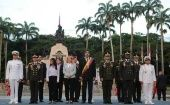 Bolivarian armed forces celebrate 70th anniversary of army day.