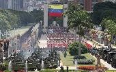 Military parade today in Caracas