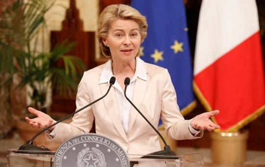 European Commission President Ursula von der Leyen in Rome, Italy August 2, 2019.