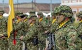 Colombian troops in Bogota