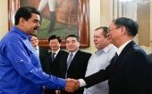 The announcement was made after a work meeting between Venezuela